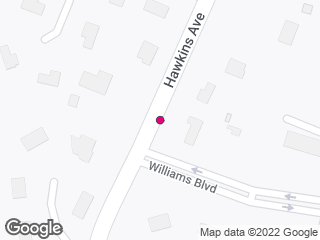Map showing location of Williams Boulevard