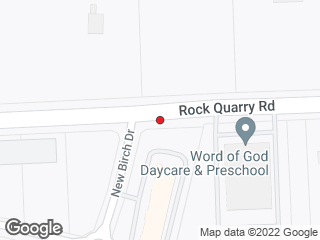 Map showing location of Rock Quary Rd at New Birch Dr (Farmington Square)