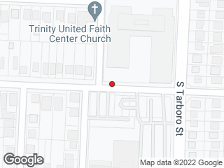 Map showing location of E Hargett St at S State St