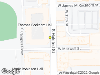 Map showing location of Robinson Hall