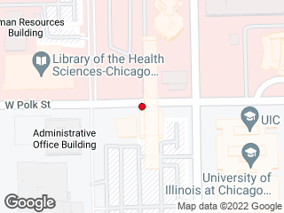 Map showing location of CTA Pink Line Station