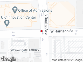 Map showing location of Student Services Building (Westbound)