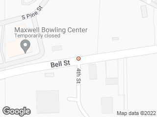 Map showing location of Maxwell & 4th
