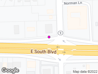 Map showing location of South & Norman Bridge