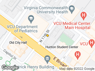 Map showing location of Sanger Hall
