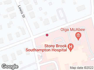 Map showing location of Southampton Hospital