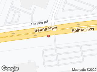 Map showing location of Selma & Newcomb