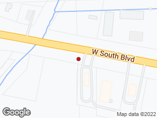 Map showing location of South Blvd Wendys