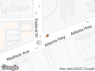 Map showing location of Atlanta & Federal