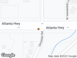 Map showing location of Atlanta & Chrystan