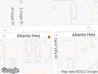 Map showing location of Atlanta & Carol Villa