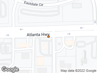 Map showing location of Atlanta & Eastdale