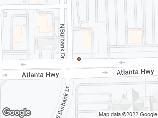 Map showing location of Atlanta & Burbank