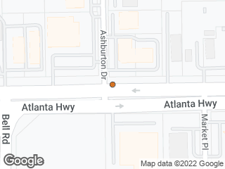 Map showing location of Atlanta & Ashburton