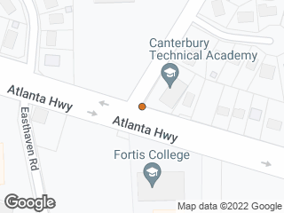 Map showing location of Atlanta & Wares Ferry