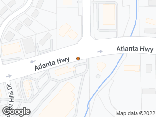 Map showing location of Atlanta & Coliseum