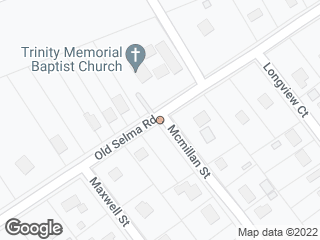 Map showing location of Old Selma & McMillan