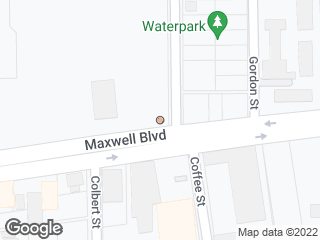 Map showing location of Maxwell Blvd. & Eugene St.