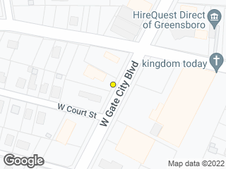 Map showing location of Gate City Blvd/Florida (A)