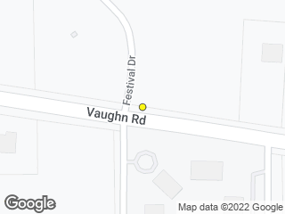 Map showing location of Vaughn & Festival