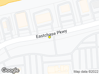 Map showing location of Eastchase Pkwy. @ Five Guys