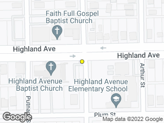 Map showing location of Boyce & Highland