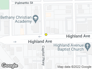 Map showing location of Highland & Capitol