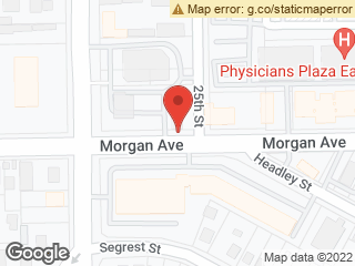 Map showing location of Morgan @ 25th