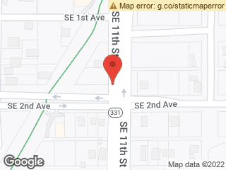 Map showing location of Southbound SE 11th Street @ SE 2nd Avenue