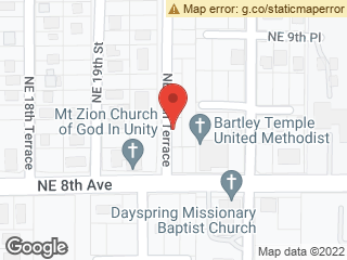 Map showing location of United Methodist Church