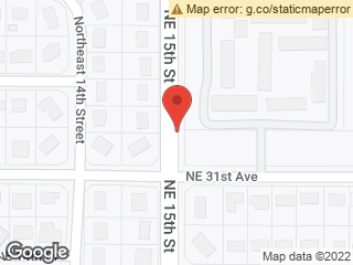 Map showing location of Northbound NE 15th Street @ NE 31st Avenue