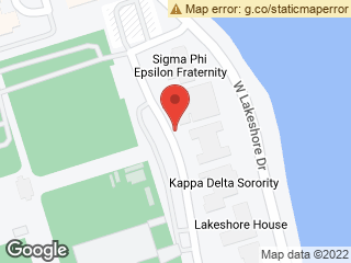 Map showing location of Chi Omega Lot