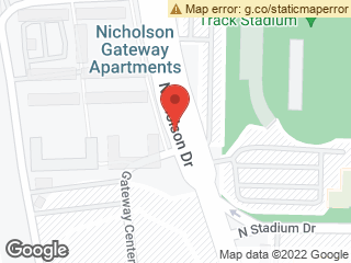 Map showing location of Nicholson Apts I