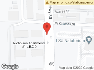 Map showing location of Nicholson Apts III