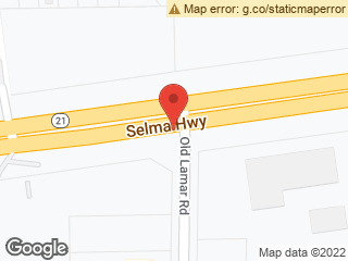 Map showing location of Selma & Old Lamar