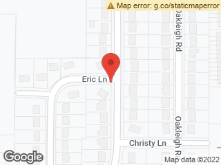 Map showing location of Eric & Cherry Hill