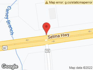 Map showing location of Selma & Lamar