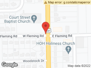 Map showing location of S. Court St. & Flemming Rd.