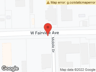 Map showing location of Fairview & Mobile