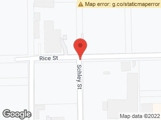Map showing location of Schley St. & Rice St.