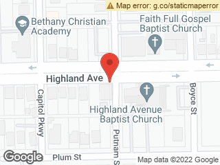 Map showing location of Putnam & Highland