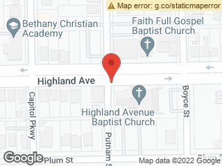 Map showing location of Plum & Highland