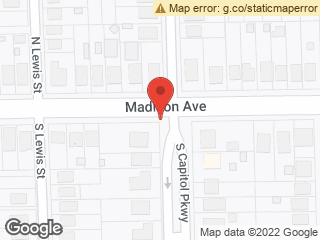 Map showing location of Madison & S Capitol