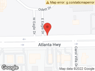 Map showing location of Atlanta & Eagle
