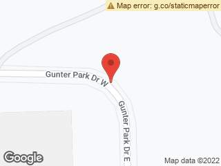 Map showing location of Gunter Park Dr E. & Gunter Park Dr W.