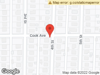 Map showing location of Cook and 4th