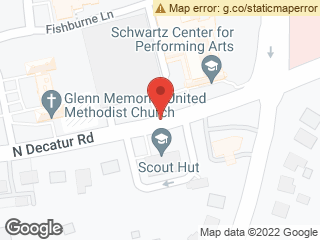 Map showing location of N Decatur @ Fishburne Deck/Schwartz Ctr