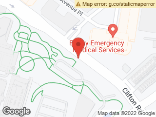 Map showing location of Clifton @ CDC/1599 Bldg