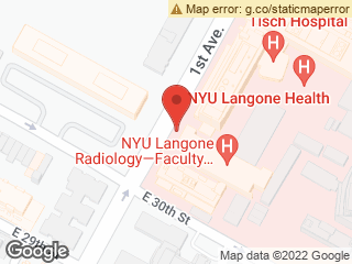Map showing location of NYU Langone Medical Center