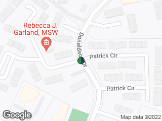 Map showing location of Donaldson Dr at Patrick Cir (SB)